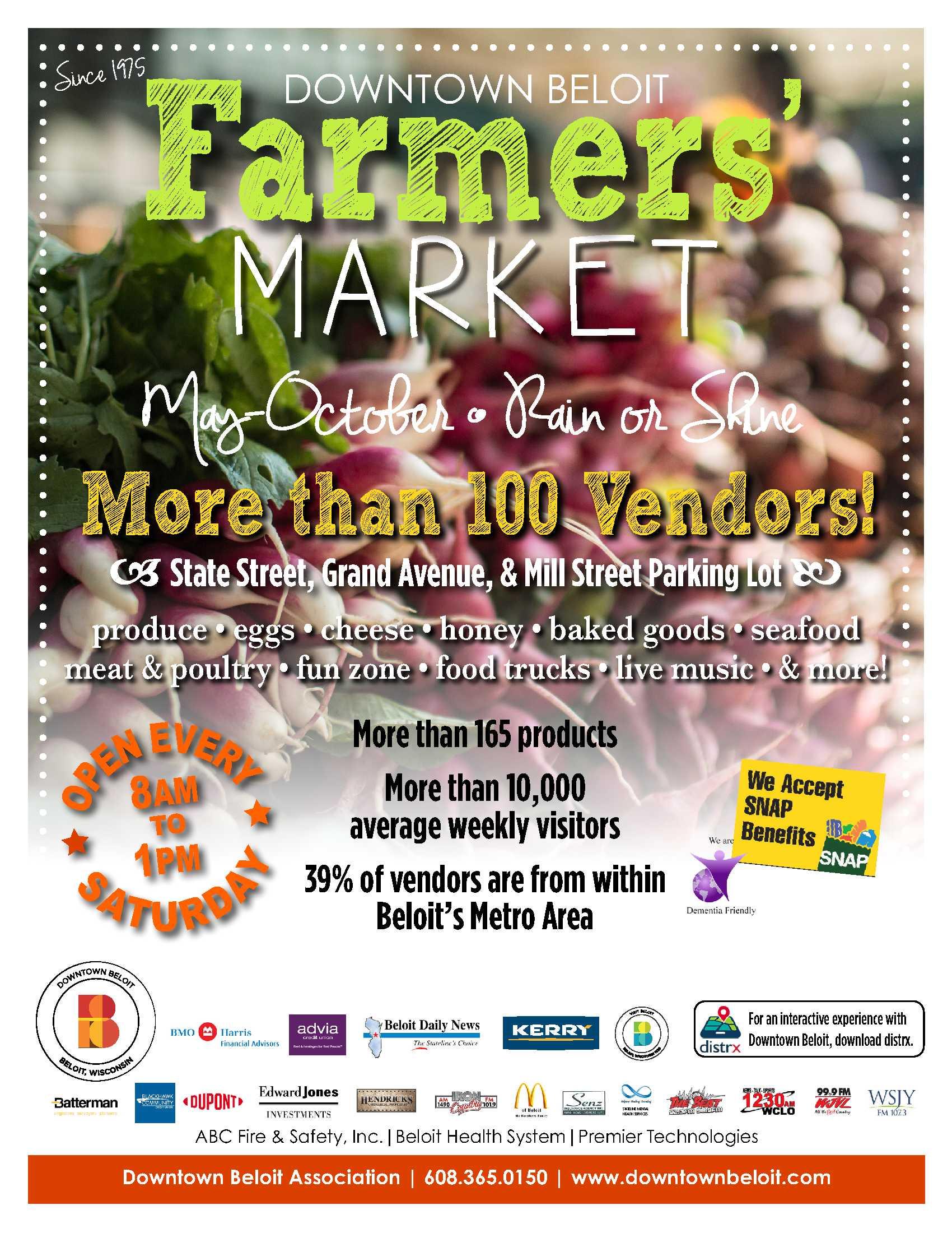 South Madison Farmers Market Has New >> Farmers Market Downtown Beloit Association