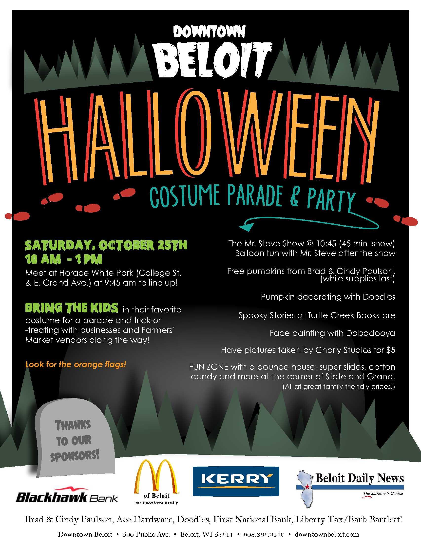 Hallowen Parade Flyer2014 Downtown Beloit Association