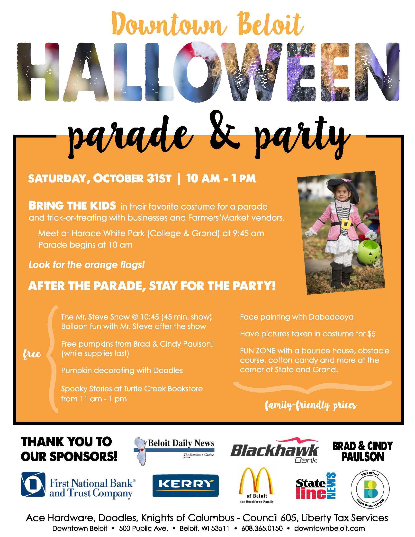 Hallowen Parade Flyer2015 Downtown Beloit Association