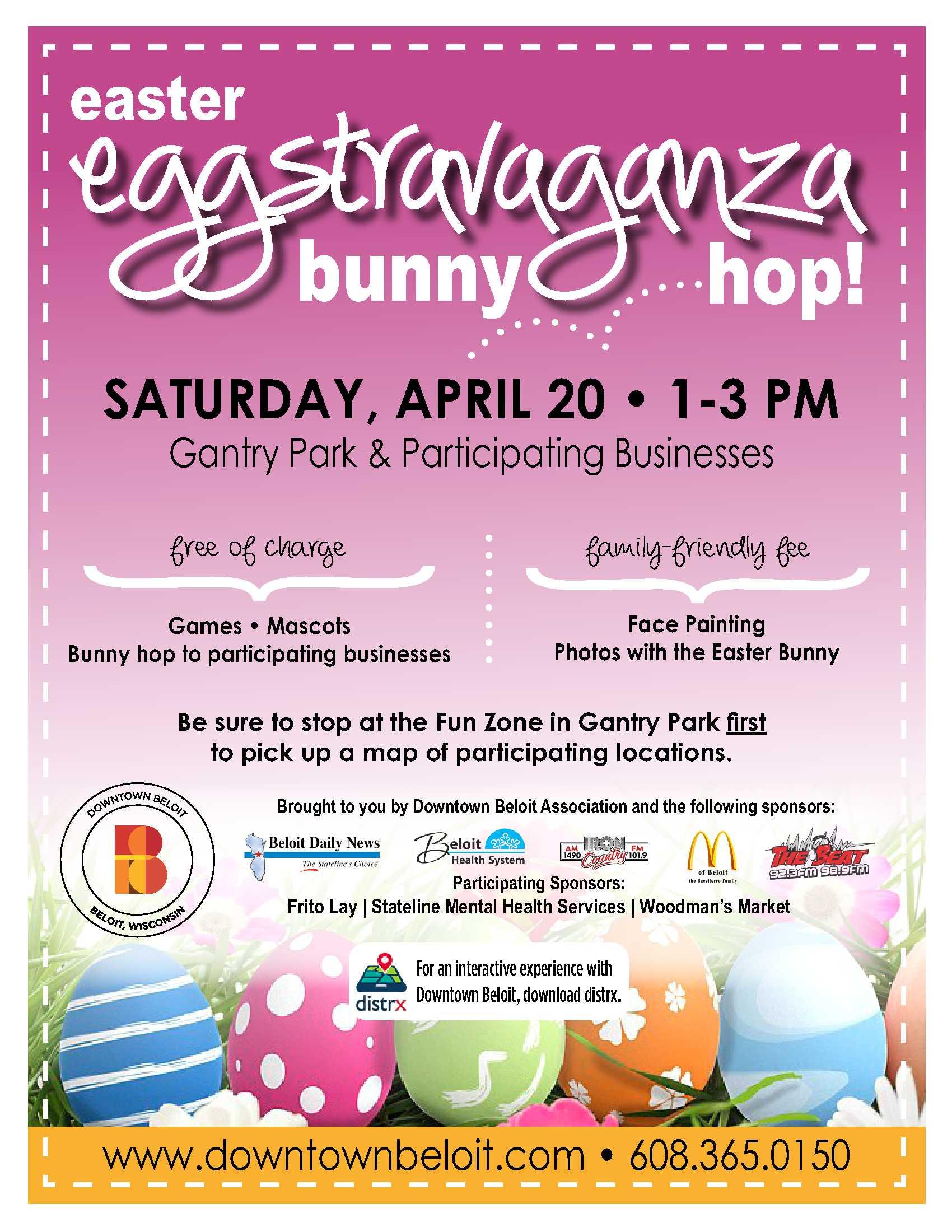 Easter Eggstravaganza Downtown Beloit Association - Easter-us-map