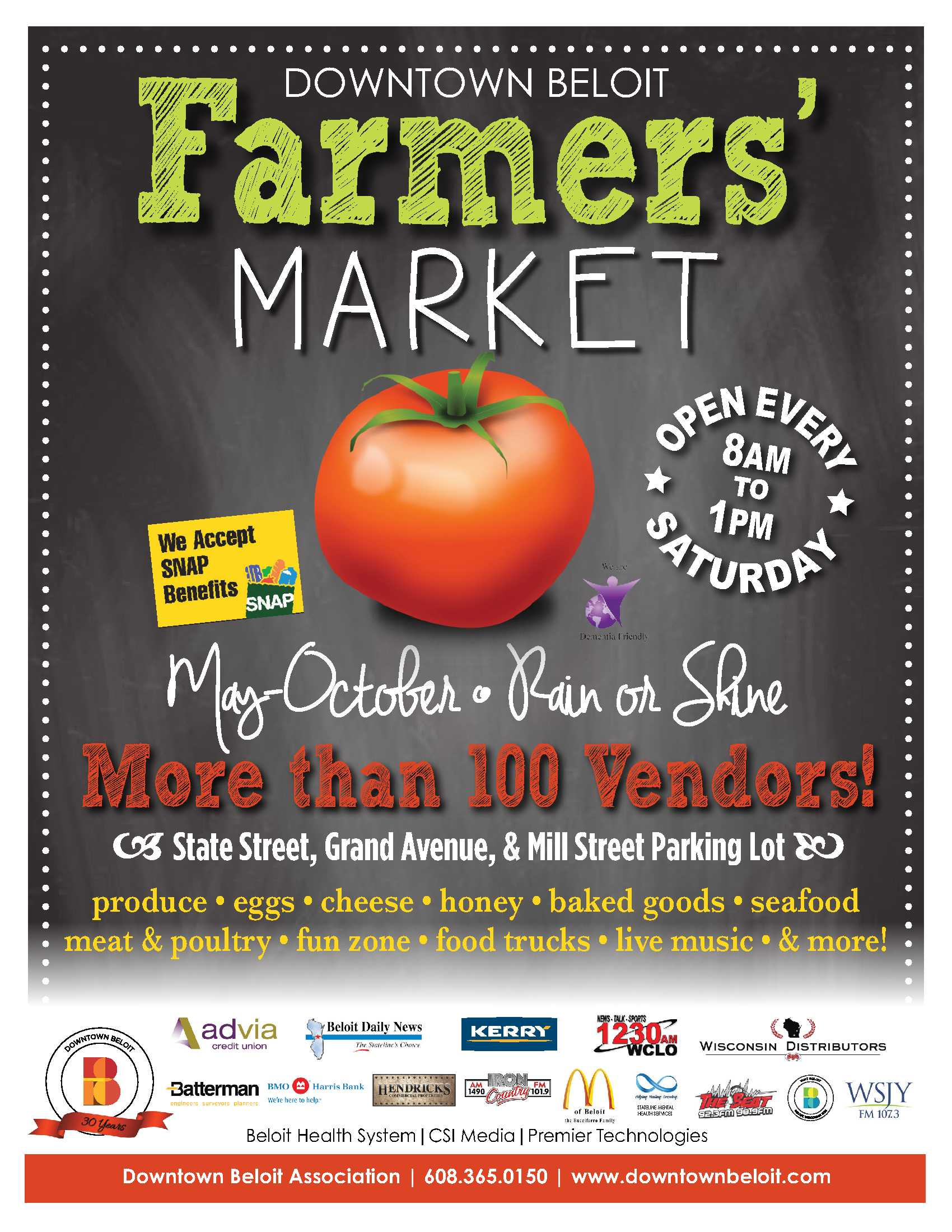 Farmers Market Flyer - Downtown Beloit Association